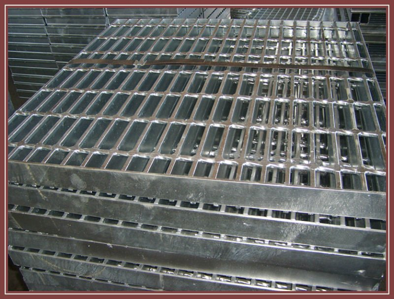 Serrated electro forged floor drain grill