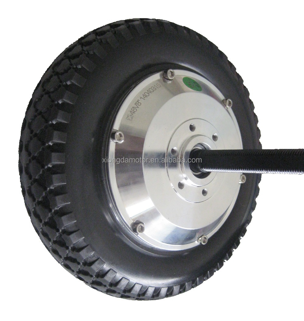 350w Electric Scooter Wheel Hub Motor With Solid Tyre 8