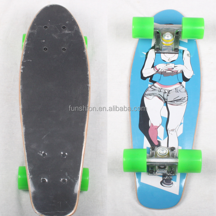 pro fish shape skateboard hot selling,skateboard bearings,old school style