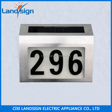 2015 Cixi Wholesale stainless steel 2 LED solar house numbers plate light,solar security lights,door sign lamp