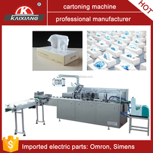 automatic boxing machine for facial tissue carton packer with glue
