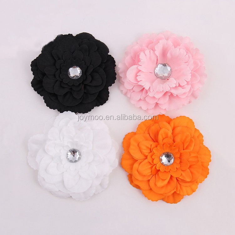 Hot Cheap Handmade Silk 12cm Fabric Flower for Dresses