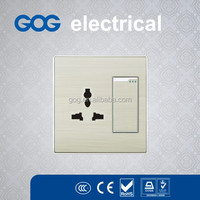2014 Newest design metal wall electrical switches and sockets