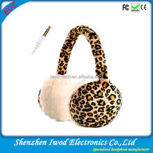2014 latest fashion design earmuffs stereo headphone color for winter cold weather