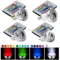 3W E27/GU10/E14/E27 16 Color LED RGB Magic Light Bulb+IR Remote Control CJ-RGBSD-001