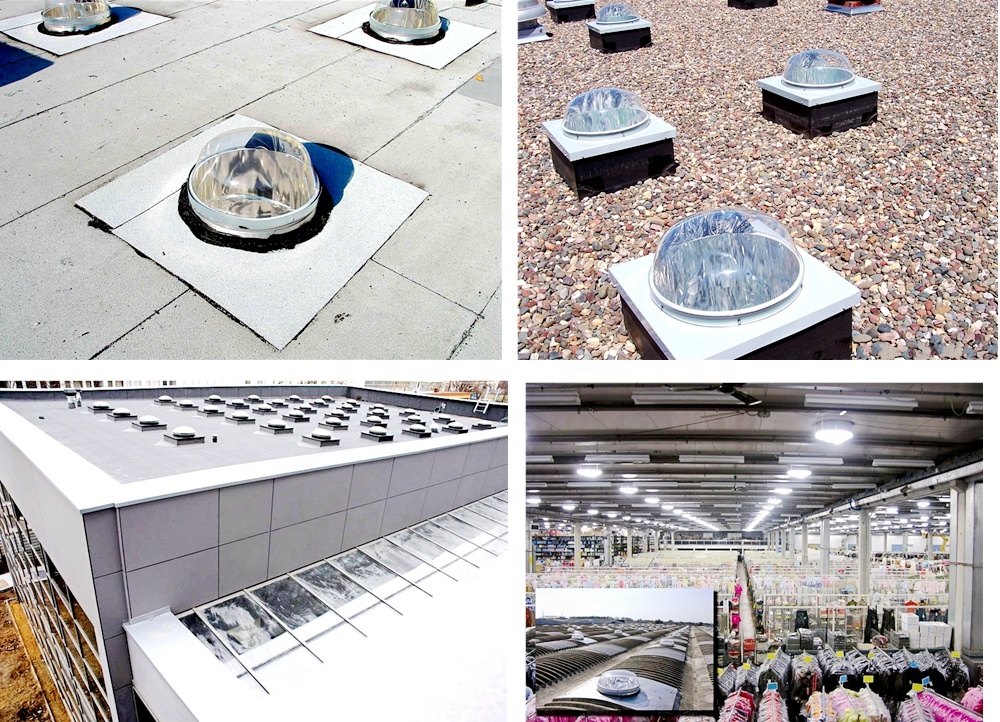 Factory producing workshop natural lighting sun tunnel, no power sun tunnel skylight