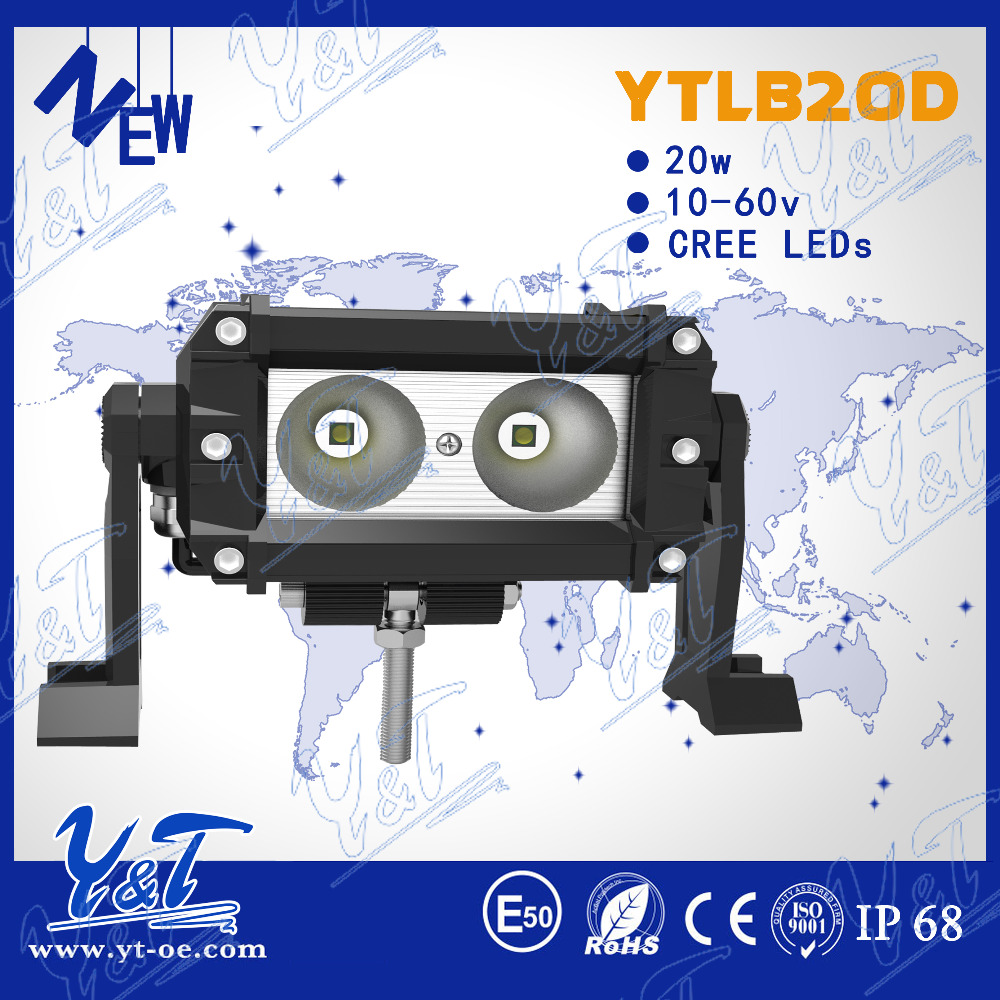 "2015 Hot sale light bar 5.5""es 20w LED WORK light bar led fog headlight bar for excavator"