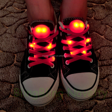 Edal Nylon Strap Shoelace LED Flash Light Up Glow Luminous Shoe Laces