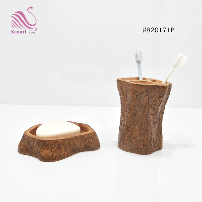 Modern Resin Items Nature Bath Accessories Set Decorative Toilets