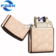 Free sample!!! FR-217 Best Selling USB rechargeable lighter electric dual beam lighter plasma X lighter