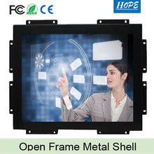 "Industrial Outdoor Kiosk 17"" Inch IR USB Touch Screen Open Frame Monitor"