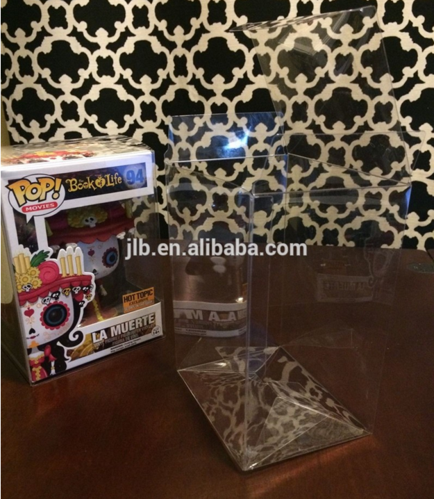 Clear plastic protector case for funko pop Crystal PET FUNKO POP PROTECTORS