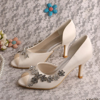 (20 Colors) Lady Sparkle Bridal Shoes with Charms