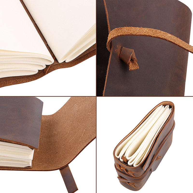 Hot Sell Genuine Leather  Notebook with Fine Inner Pocket