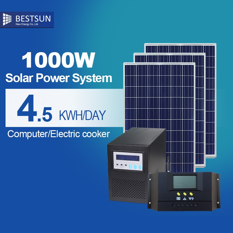 Best sun China Manufacture Off Grid 1KW Home Solar System With Battery Backup,Energy Saving 1000w Solar Generator From Solar Pan