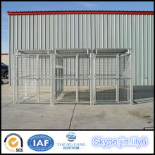 Stable Large pet house galvanized pipe welded dog kennel