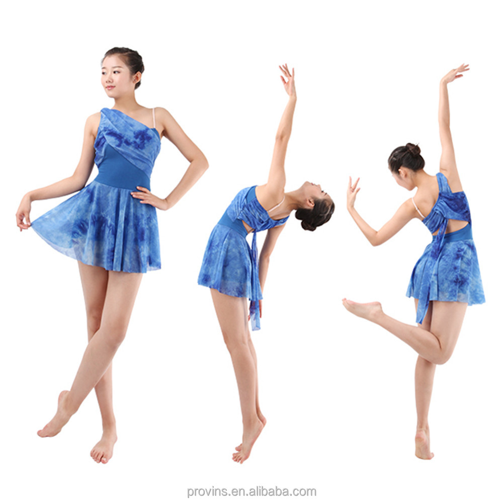Colourful modern lyrical dance costume dress buy modern dance