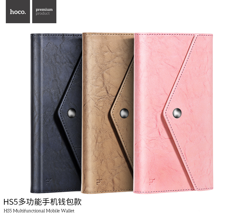 New HOCO Multifunctional Leather Wallet Cell Phone Case for iPhone 6