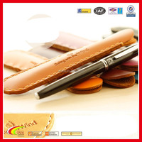 Durable leather pen holder, Genuine leather handmade stitching leather pen holder for colors