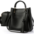 Yiwu City Cheap PU Leather Ladies Handbag Classic Fashion Set of Women Hand Bag