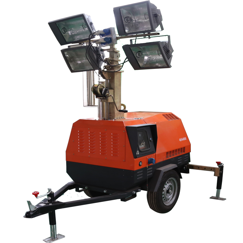 High quality trailer mounted lighting towers