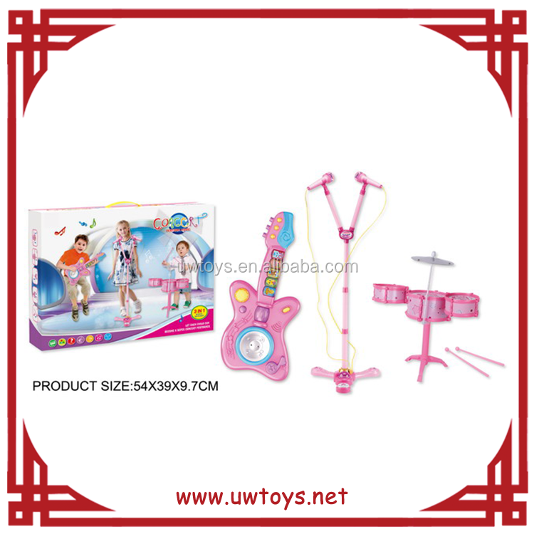 China wholesale market agents electric guitar+microphone+drum novelty christmas toys