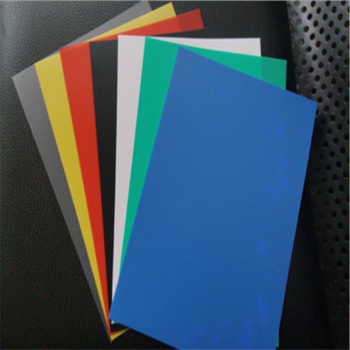 Colored pp plastic sheet for kids drawing stencil board
