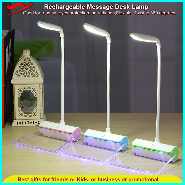 Message Desk Lamp / innovative rechargeable battery powered heat lamp