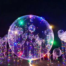 2017 hot sell colorful Christmas copper wire LED string light Helium bobo balloon