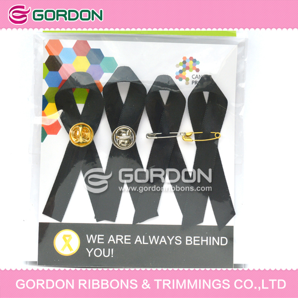 safety pin Style and Pull Bow Type AIDS ribbon