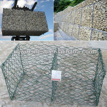 Gabion retaining wall/PVC-coated welded gabion wire mesh