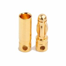 Amass 4.0mm gold plated connectors,R/C accessories.