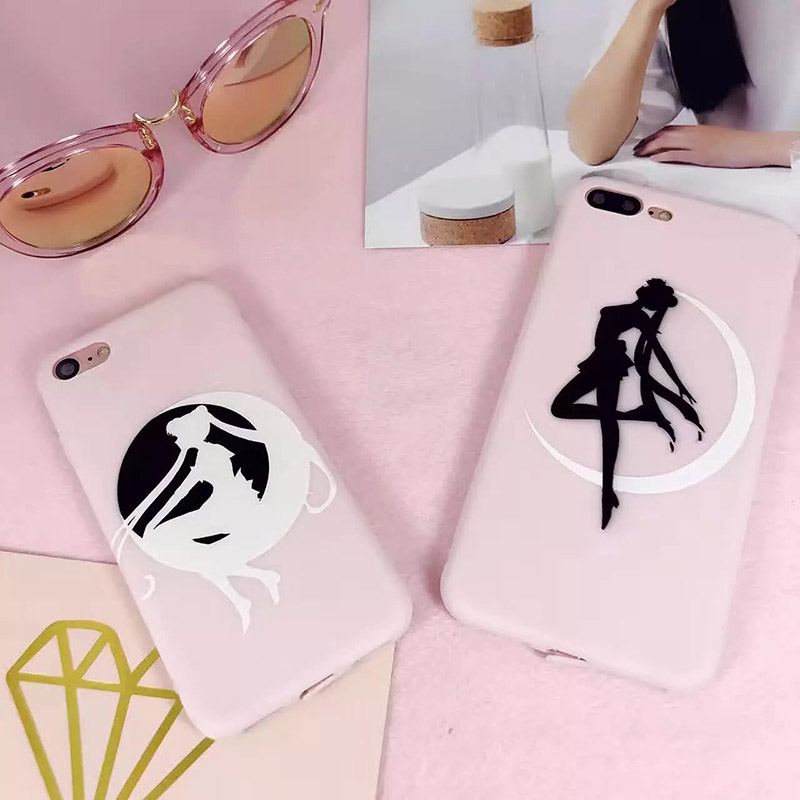 Sailor Moon Print Plastic Matte Hard Back Cover Case For iPhone 7 / 7 Plus