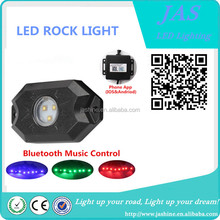 9W RGB mini LED rock light, 2 inch Led Tail Dome Light, RGB led rock light