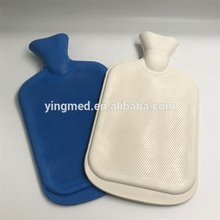 China fabricage rubber hot water hot-waterfles met gebreide cover