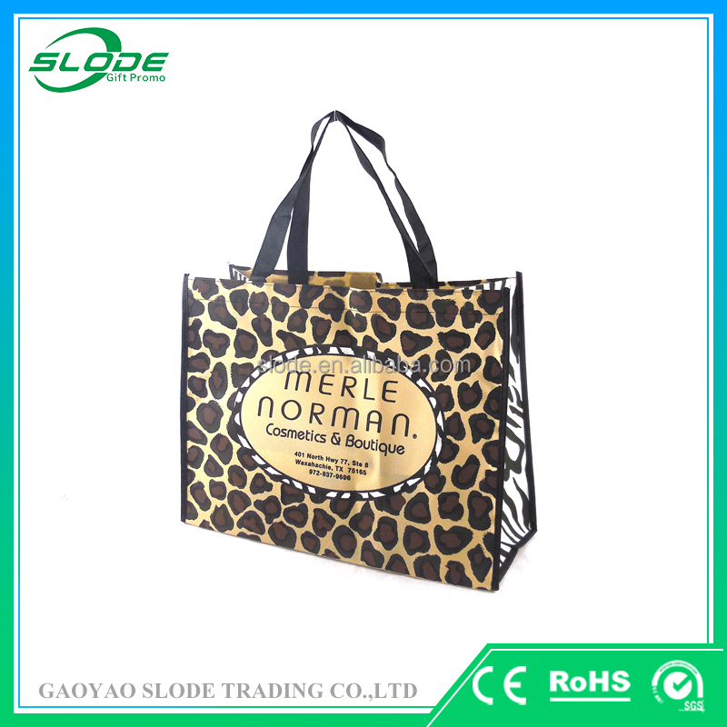 Full color printing nonwoven fashion tote bag, handbags tote bag