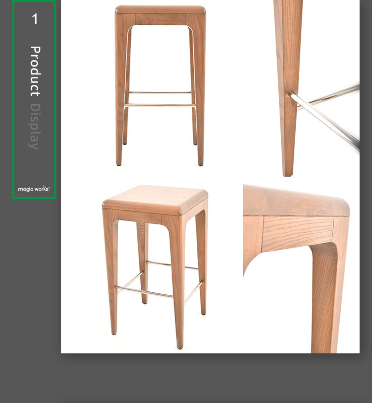 New Design Solid Wood Metal Legs Living Room Furniture for Changing Room Stools for Chairs