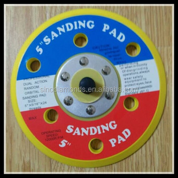 "5"" backing pads of Sanding pads for painting remove"