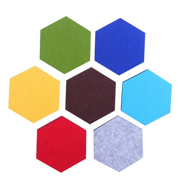decorative soundproof Hexagon wall <strong>panel</strong> PET felt 100% polyester fibre acoustic <strong>panel</strong>