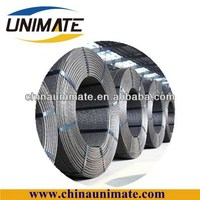 railway sleeper hollow slab and bridge used construction material 9.3mm/12.7mm/15.2mm plain/indented 7 wire pc steel strand
