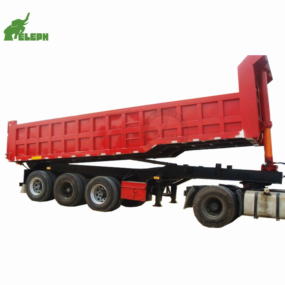 Golden Price Heavy Duty 40 ton 50 ton Side Tipper / <strong>Rear</strong> Dumper Semi Trailer 3 <strong>axles</strong> used dump truck trailer beds tires for sale