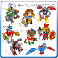 Mini Qute Lele Brother 8 styles Kawaii LOL Game boys plastic building blocks brick cartoon model educational gift toy