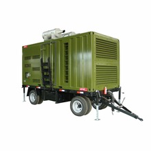 Green two wheels trailer diesel power generator price