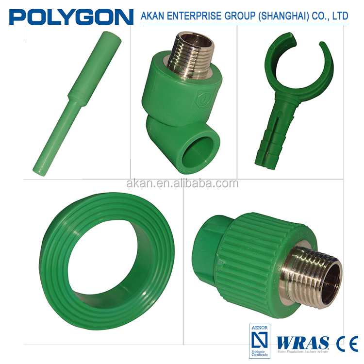 Transport potable water and other fluids of any PH values Polygon fittings Ppr Elbow
