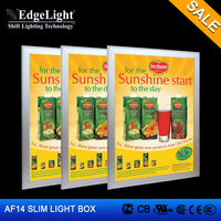 Edgelight AF14 aluminum extrusion snap frame small led display board , snap fit display frame , CE/ROHS/UL LED display