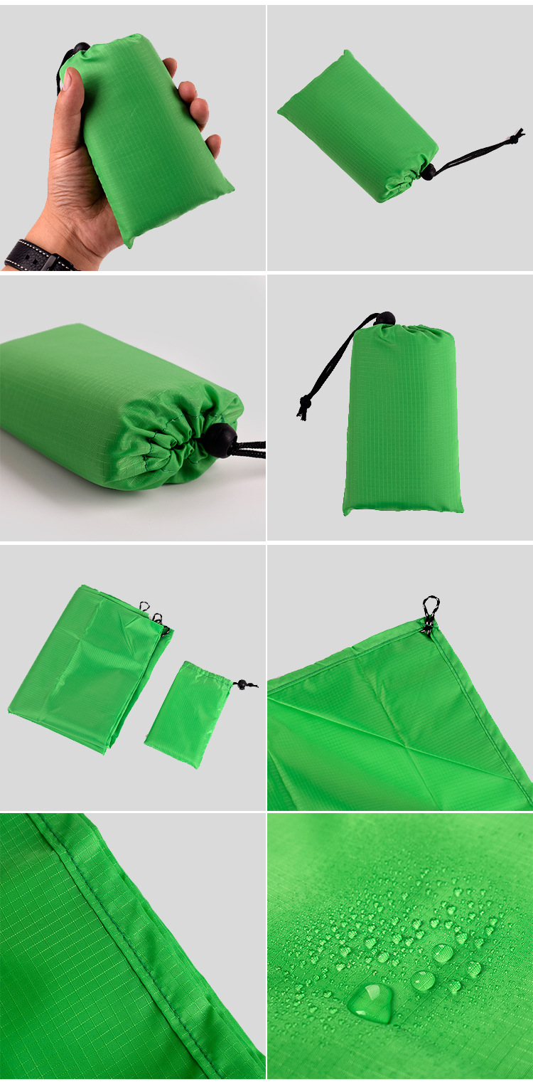 high quality cheap promotional china Outdoor park beach Mini pocket Ultra light portable folding Beach mat picnic blanket
