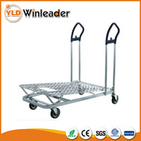 4 Casters hand cart metal supermarket transport trolley