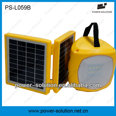 Home lighting 2W led solar cell with lantern with double solar panel for rural areas