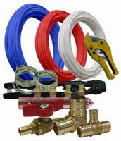 pex tubing installation with brass fittings