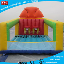 YBJ inflatable bouncers sport bouncer with basketball hoop, inflatable bounce houses, inflatable basketball hoop bouncer